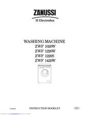 Zanussi ZWF 1220S Instruction Booklet