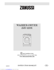 Zanussi jetstream ZJD12191 Instruction Booklet