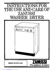 Zanussi RWD 1002 Instructions For Use And Care Manual