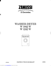 Zanussi W 1042 W Instruction Booklet