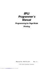 Zebra EPL2 Programmer's Manual