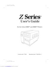 Zebra Z4000 Manuals