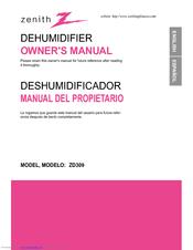 zenith zd309 manuals rh manualslib com zenith dehumidifier model zd300y0 manual zenith dehumidifier 3850a20500h manual