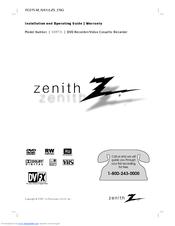 zenith xbr716 dvd recorder vcr combo manuals rh manualslib com Zenith VCR Owner's Manual Zenith Watches
