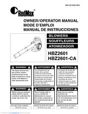 Zenoah HBZ2601-CA Manual