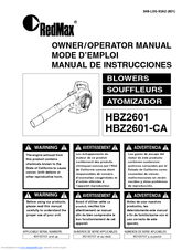 Zenoah HBZ2601-CA Owner's/operator's Manual
