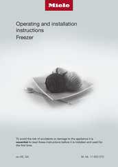 Miele F 2411 Vi Operating And Installation Instructions