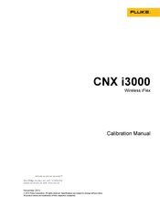Fluke CNX i3000 Calibration Manual