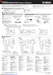 Yamaha CP1SF Owner's Manual