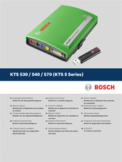 Bosch KTS 540 Original Instructions Manual