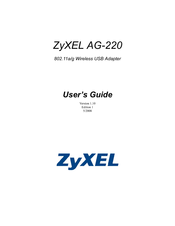 ZYXEL AG 220 DRIVERS WINDOWS 7 (2019)