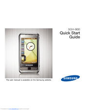 samsung sgh i900 quick start manual pdf download rh manualslib com samsung omnia i900 manuale d'uso