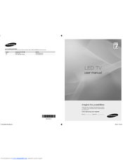 Samsung UE55B7000WW User Manual