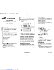 Samsung CS-21D8S Owner's Instructions Manual