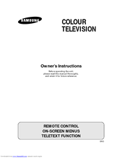 Samsung CW29A114V Owner's Instructions Manual