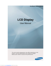 Samsung SyncMaster 400DX-3 User Manual