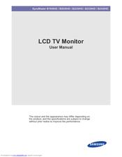 samsung syncmaster b2430hd manuals rh manualslib com Samsung User Manual Guide Samsung TV Owner Manuals