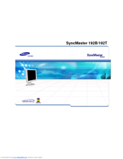 Samsung 192T - SyncMaster 192 T User Manual