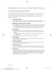 samsung eco bubble washing machine user manual