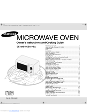 Manuals And User Guides For Samsung Ce107b We Have 1 Manual Available Free Pdf Owner S Instructions Cooking