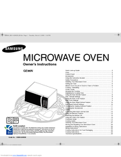 Manuals And User Guides For Samsung Ge86n B 23 Litres Grill Microwave We Have 1 Manual Available Free Pdf