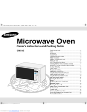 Manuals And User Guides For Samsung G273v We Have 1 Manual Available Free Pdf Owner S Instructions Cooking
