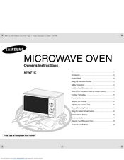 Samsung MW71E Owner's Instructions Manual