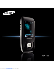 Samsung YP-T9JQB - Digital AV Player Manual