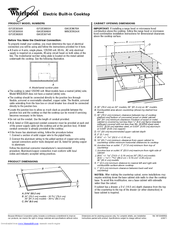 Whirlpool G7CE3034XC Product Dimensions