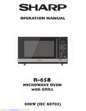 Sharp Carousel 2 R 9h83 Operation Manual 34 Pages 800w Microwave Oven With Grill