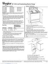 whirlpool wfc110m0aw product dimensions pdf download  whirlpool electric range wiring diagram wfe510s0aw #34