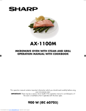 Sharp AX-1100M Operation Manual With Cookbook
