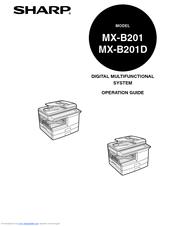 Sharp MX-B201D Manuals