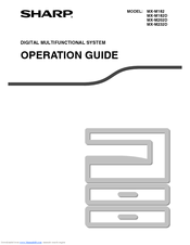 Sharp MX-M182D Operation Manual
