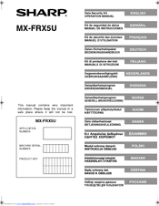 Sharp MX-FRX5U Operation Manual