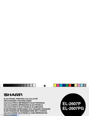 Sharp EL-2607P Operation Manual