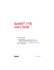 Toshiba 1100-S101 User Manual