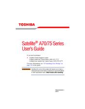 toshiba a75 s229 satellite mobile pentium 4 3 2 ghz manuals rh manualslib com Ruta A70 Toyota A70