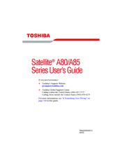 Toshiba A85-S107 User Manual
