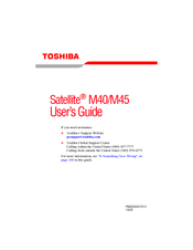 Toshiba Satellite M45 User Manual