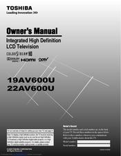 toshiba 22av600uz manuals rh manualslib com Toshiba 55HT1U Manual Toshiba E-Studio203sd Manuals