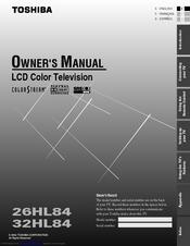 toshiba 32hl84 theaterwide hd 32 lcd tv manuals rh manualslib com Toshiba DLP TV Floor Model Toshiba TheaterWide HD Manual