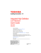 Toshiba 40E220U User Manual