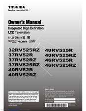 toshiba 37rv525rz manual