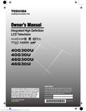toshiba 40g300u owner s manual pdf download rh manualslib com User Guide Owner's Manual