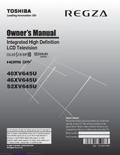 toshiba regza 40xv645u owner s manual pdf download rh manualslib com Toshiba TV Manual Online Toshiba Cinema Series Manual