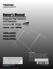 Toshiba 40SL500U Owner's Manual