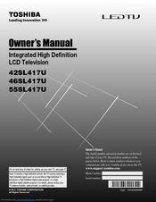 Toshiba 42SL417U Owner's Manual
