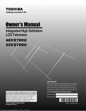 toshiba 46vx700u owner s manual pdf download rh manualslib com Toshiba 32DT2U1 Model Toshiba 32DT2U1 Lamp