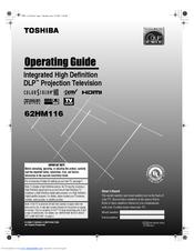 toshiba 62hm116 operating manual pdf download rh manualslib com Toshiba TV Manual Toshiba E-Studio203sd Manuals